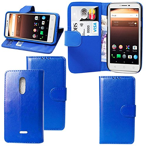 Für Alcatel A3 XL 9008 X/A3 5046y Fall - Geldbörse Leder Book Case Flip Tasche Cover mit Card/Cash Slots & Pocket Cover für Alcatel A3 XL/Alcatel A3, Blue Flip CASE, ALcatel A3