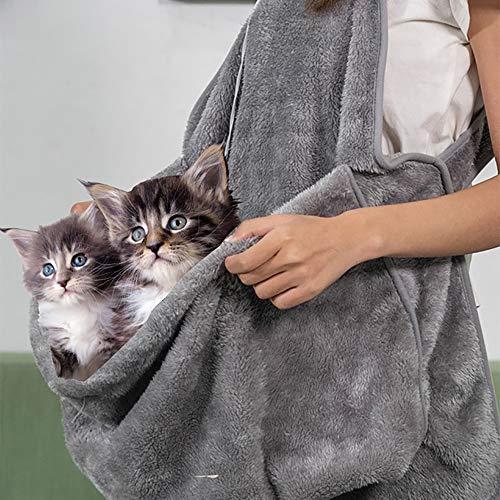 QNMM Delantal Gato Bolsillo Consiga íntimo Sus Mascotas