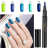 tylo vernis à ongles, mogoi 5 couleur 3 en 1 étape Nail gel peinture vernis stylo, pas de base Top Coat besoin, tremper OFF UV LED vernis à ongles nail art Kit