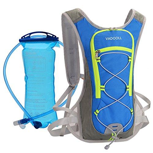 VADOOLL Trinkrucksack mit 1.5L Trinkblase, Ultralight Laufrucksack mit Trinksystem für Radsport, Laufen, Joggen, Wandern, Radfahren, Camping, Bergsteigen und Marathon -