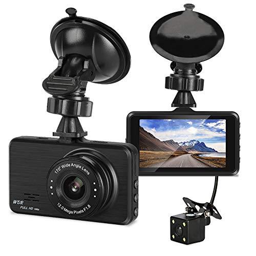Fahren Recorder 3 Zoll 1080P + 720P HD Dual-Aufnahme-Rückspiegel, Der Bild 12 Millionen Pixel Umkehrt, Unterstützt SD-Karte