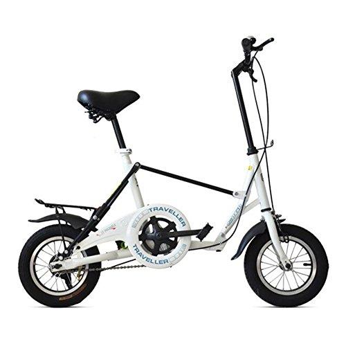 XQ F5130,5cm Single Speed Erwachsene Fahrrad Falt Dämpfung Student Auto Kinder Fahrrad weiß -