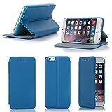 Etui luxe iPhone 6 4.7 16/32/64 Go (Wifi/3G/4G/LTE) Ultra Slim bleu clair Cuir Style...