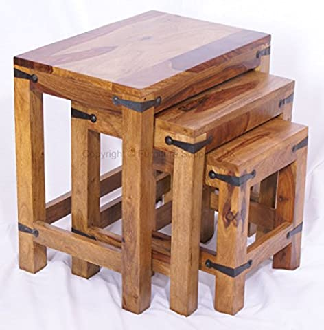 Jali Nest of 3 Tables - Coffee Tables - Side