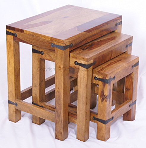 Jali Nest of 3 Tables - Coffee Tables - Side Tables for sale  Delivered anywhere in UK