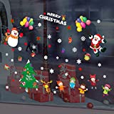 MMLC Weihnachtsdeko Weihnachtssticker Merry Christmas Schaufensterdekoration (H)