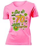 Das ist Mein 70er Jahre Kostüm 4523 Damen Karneval Faschingskostüm Fun-T-Shirts Pink M