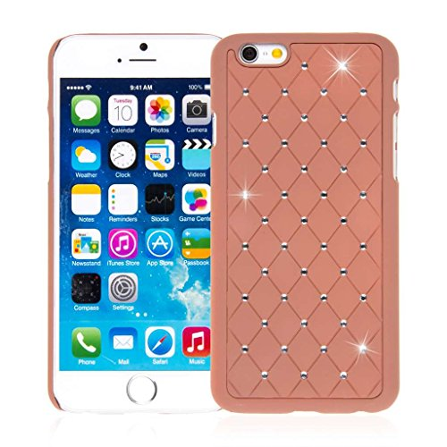 EMPIRE GLITZ Slim-Fit Schutzhülle für Apple iPhone 6/6S _ P Cognac, GLITZ Bling Accent