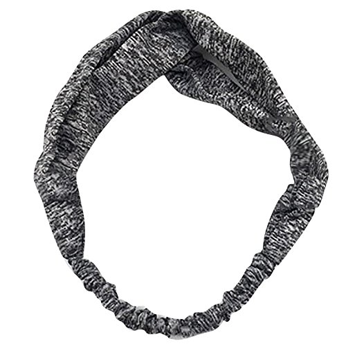 AMUSTER Damen Elastische Stirnbänder Damen Stirnband Headwrap Kopfband Haarband Elastisch Weich Verdreht Stirnband Kopfbedeckung für Alltag Yoga Sport