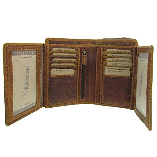 Unisex Wildleder Portemonnaie Geldbörse Brieftaschen Geldbeutel mit sehr vielen Kartenfächern