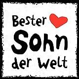 how about tee? - Bester Sohn der Welt - stylischer Kühlschrank Magnet mit lustigem Spruch-Motiv - zur Dekoration oder als Geschenk