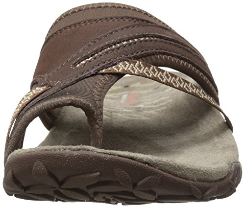 Merrell Damen Terran Post Ii Sandalen, Rose, 37 EU Braun (Dark Earth)