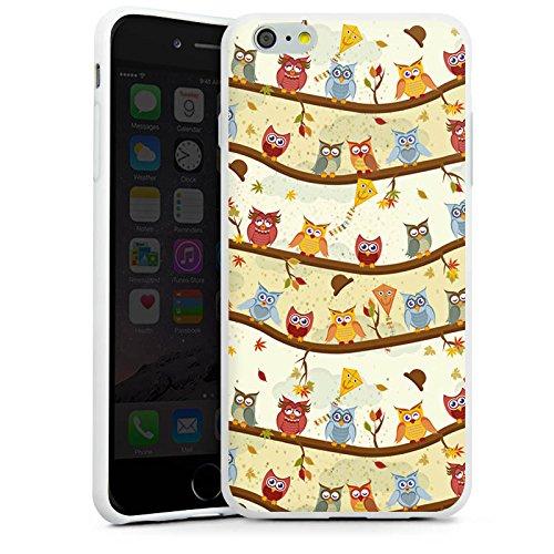 Apple iPhone X Silikon Hülle Case Schutzhülle Eulen Muster Eule Silikon Case weiß