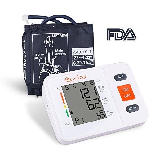 sgerät Vollautomatische Blutdruck und Pulsmessung mit LED großem Display 2 * 90 Speicherplätze Präzise Blutdruckmessung mit Aufbewahrungstasche und Fünf Sprachanweisungen ()
