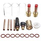 MASUNN 21Pcs TIG saldatura 45V27 gas Lens #13 Pyrex Cup Kit per TIG WP-17/18/26 1/8inch