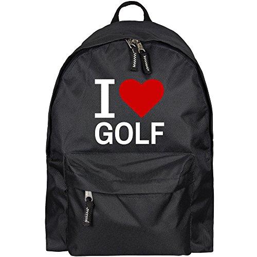 Rucksack Classic I Love Golf schwarz - Lustig Witzig Sprüche Party Tasche -
