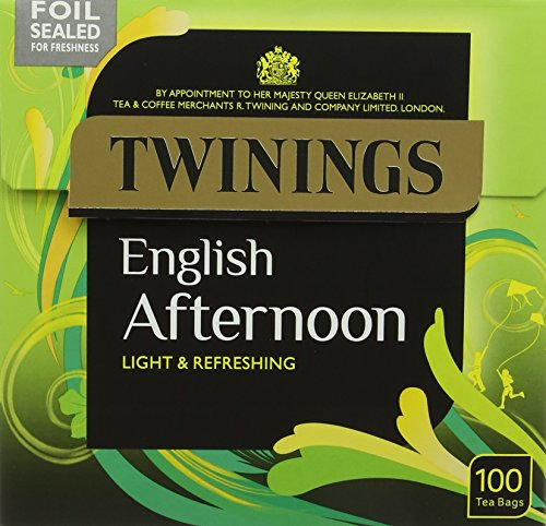 Twinings English Afternoon Teabags (Pack of 4, Total 400)