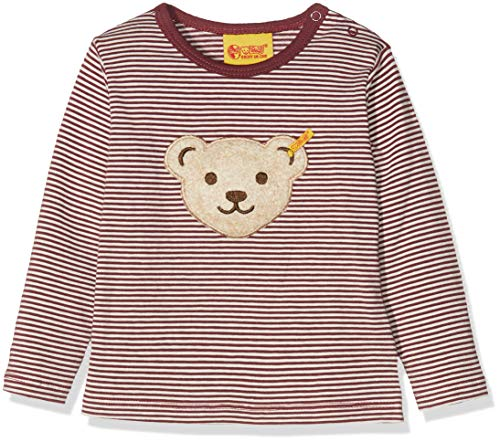 Steiff Baby-Jungen T-Shirt 1/1 Arm Langarmshirt, Rot (Burgundy|Red 2761), 74 Red Long Sleeve Teddy