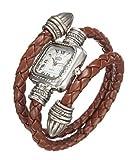 uSs Damen Armbanduhr Schlangenform Leder Retro