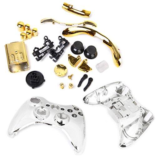 Ersatz Case Shell Buttons Screw Kit Schutztasche für Xbox 360 Controller - Gold (Gold Xbox Shell)