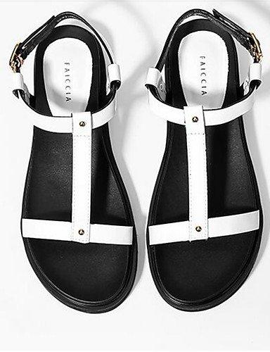 WSS 2016 Chaussures Femme-Décontracté-Blanc-Gros Talon-Talons-Chaussures à Talons-Polyuréthane white-us7.5 / eu38 / uk5.5 / cn38