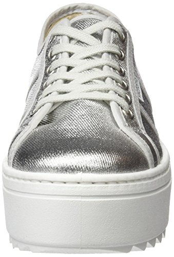 Victoria Lona Metalizada, Baskets Basses Mixte Adulte Argent (Plata)