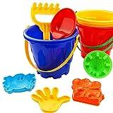 KNOSSOS Grandi Giocattoli da Spiaggia Mini Set Benna Pala Rake Beach Sand Play Toys per Bambini