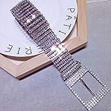 Lionina - Cinturón Brillante para Mujer, Cadena de Cintura con Diamantes de imitación, Show, Large