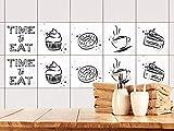 GRAZDesign 770531_20x20_FS20st Fliesenaufkleber für Küchen Fliesen Kuchen Motiv - alte Fliesen mit Fliesenfolie überkleben (20x20cm // Set 20 Stück)