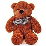 Grande Orsacchiotto - 80 cm Orso Peluche Seduto - Adorabile E Tenero Teddy Bear. Perfetto per Fidanzata O Moglie a San Valentino O per Il Compleanno. per Giovani E Adulti
