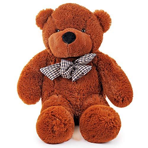 Großer Riesen sitzender Plüsch Teddybär - 80 CM - Bezaubernd & kuschelig Teddy bear - Brillant zum Valentinstag - Geburtstage - Großartig für Freundin - Ehefrau - Für Jung & Alt Gleiches
