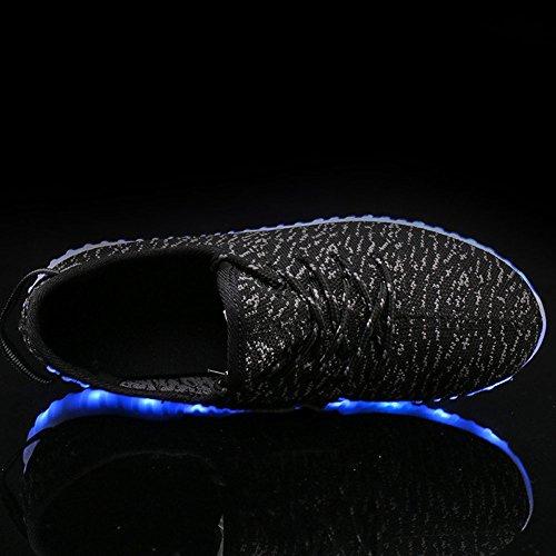 Topcloud Boys & Girls Chaussures De Soirée Super Cool Led Scarpe Lampeggianti Par Natale Nero2