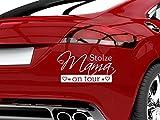 GRAZDesign 745022_10_010G Auto-Aufkleber Baby fürs Auto Spruch Stolze Mama on Tour | Geschenk zur Geburt - Heckscheiben-Aufkleber (19x10cm//010 weiß)