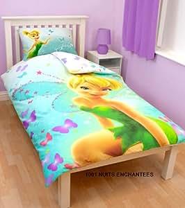 Parure de lit housse de couette Fée Clochette Disney enfant fille princesse