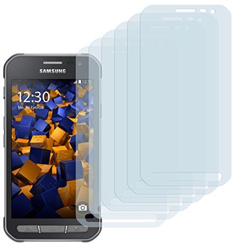 mumbi Schutzfolie kompatibel mit Samsung Galaxy Xcover 3 Folie klar, Bildschirmschutzfolie (6x)