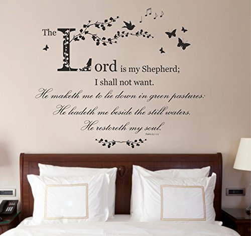 psalm-23-christian-niv-bible-verse-quote-the-lord-is-my-shepherd-vinyl-wall-art-sticker-mural-decal-