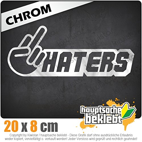 haters-20-x-8-cm-en-15-couleurs-fluo-chrome-jdm-autocollant