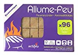 ACTIFEU ACTBC96 Allume-feu Cubes Bois compressé, Neutre