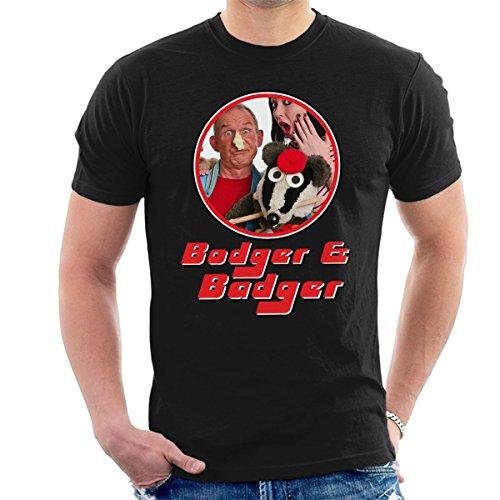 Bodger And Badger Retro Frame Men's T-Shirt Black