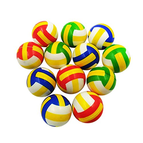 Zeagro 12pcs Set PU Soft Bouncy Volleyball Squeeze Venting Ball Stress Reliever Pet Training Spielzeug Entspannung Kinder Geschenk