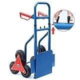 Popamazing Handy 200kg Heavy Duty Sack Truck Trolley Transport Climbing Stair Climber Cart
