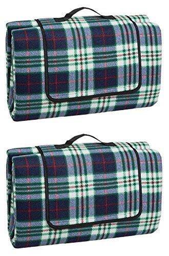 Idena 7578461 - Picknickdecke mit wasserabweisender Rückseite, ca. 130 x 170 cm, kariert