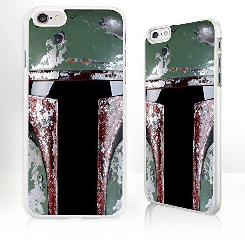 Star Wars-Custodia per telefono cellulare per iPhone serie-9 disegni a scelta, Boba Fett - WHITE, iPhone 4/4S