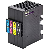 4er Set - Druckerpatronen kompatibel zu RICOH GC41 | je 1x schwarz cyan magenta gelb | geeignet für Ricoh Aficio SG-2100N / SG-3100 Series / SG-3100SNW / SG-3110N / SG-3110DN / SG-3110DNW / SG-3110SFNW / SG-3120BSFNW / SG-3120BSF / SG7100DN