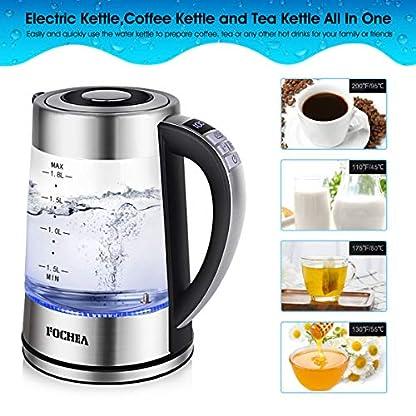 Wasserkocher-Glas-FOCHEA-18L-Wasserkocher-Glas-Edelstahl-Elektrischer-Wasserkessel-schnelles-Kochen-mit-automatischer-Abschaltung24-Stunden-Warmhaltefunktion-fr-Zubereitung-von-Babynahrung-Tee