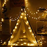 Qniceone Twinkle Star String Lights, Plug in Fairy String Lights Waterproof, Extendable for Indoor, Outdoor, Ramadan, Wedding
