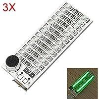 Generic 3 Stücke 2x13 USB Mini Spektrum Grün LED Board Sprachsteuerung Empfindlichkeit Einstellbar preisvergleich bei billige-tabletten.eu