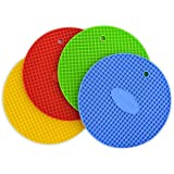 Silicona Pot Stands/salvamanteles con Logo Thermapen–Pack de 4colores