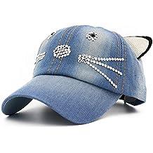 87b3611ed2 Cappellini Con Visiera Piatta Bambini Orecchie Di Gatto Primavera Estate Cappello  Cappellini baseball