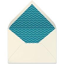 sobres forrados invitaciones de boda-ZIGZAG- 22,5x16,5 cm. (turquesa)